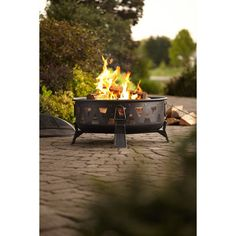 A fire pit will keep you nice and toasty during the summer nights.