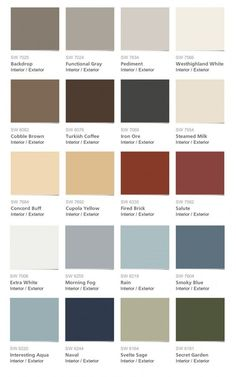Sherwin Williams - Pottery Barn Paint Colors - Spring/Summer 2014 Collection
