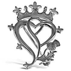 Sterling Silver Luckenbooth Brooch - Scottish Pin - CF12N7X2WWR - Brooches & Pins  #jewellrix #Brooches #Pins #jewelry #fashionstyle