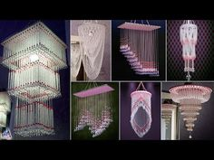 Diy Chandelier, Chandeliers, Bead Bowl, Diy Wind Chimes, Beaded Curtains, Magnolia Flower, Beautiful Wall, Wall Hangings, Dream Catcher