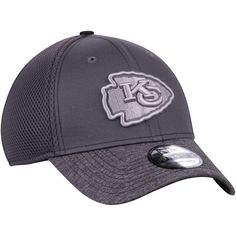 Men s Kansas City Chiefs New Era Graphite Shadow Burst 39THIRTY Flex Hat  Kansas City Chiefs f9618218195