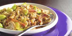 Boodschappen - Macaroni met kip, prei en roomkaas