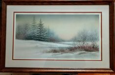 """Arnold Alaniz """"Evening Mist"""" Signed/Numbered Print #575/750 Large Matted/Framed #Realism Vintage Landscape, Corpus Christi, Limited Edition Prints, Mists, How To Draw Hands, Original Paintings, Frame, Art, Hand Reference"""