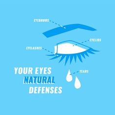 YOU HAVE A few natural defense mechanisms that help keep your eyes and vision healthy and strong!