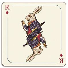 Avenida Home Alice In Wonderland Rabbit Placemat by Louise Kirk