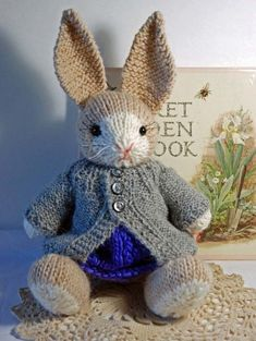 Francis the Easter Bunny - Free Instructions (Beautiful Skills - Crochet Knitting Quilting), . Francis the Easter Bunny - Free Instructions (Beautiful Skills - Crochet Knitting Quilting), Knitting Terms, Knitting Projects, Baby Knitting, Crochet Projects, Free Knitting, Knitting Stitches, Animal Knitting Patterns, Stuffed Animal Patterns, Crochet Patterns