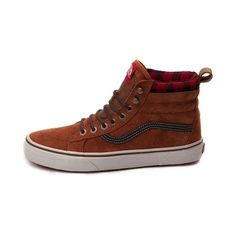 Perfect for Fall, the mountain styled Vans Sk8 Hi MTE sports rich suede uppers with Scotchgard® treatment for water resistance, and soft plaid collar for warmth and comfort.   <br><br><u>Features include</u>:<br> > Durable suede upper with textile lining<br> > Padded collar for support and comfort around ankle<br> > Lace closure offers a secure fit<br> > Cushioned footbed offers shock-absorbing comfort<br> > Vulcanized rubber outsole with signature waffle tread delivers flexible grip and…