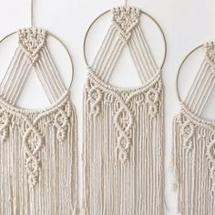Only two of these macrame dream catchers left! off sale ends tomorrow. Macrame Design, Macrame Art, Macrame Projects, Macrame Rings, Macrame Knots, Macrame Jewelry, Macrame Wall Hanging Patterns, Macrame Patterns, Modern Macrame
