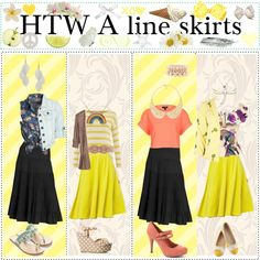 """""""HTW a line skirts"""" by girlies-tip2 ❤ liked on Polyvore"""