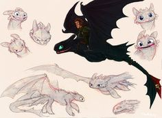 Some HTTYD stuff. Please, don't ask me to draw more How to Train Your Dragon fan art. Toothless Sketch, Toothless Dragon, Hiccup And Toothless, Httyd Dragons, Dreamworks Dragons, Cute Dragons, Night Fury Dragon, Dragon Sketch, How To Train Dragon