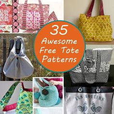 The Best Free Tote Patterns - Craft Weekly