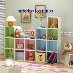 Biblioteca,cubos,modular,,niños,infantiles,dormitorio - $ 2.400,00 Girl Room, Baby Room, Room Decor, Shelves, Bedroom, Storage, Kids, Home, Design