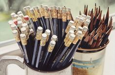 The ultimate bouquet of sharpened pencils. Who cares about flowers when you can have these! Ahh..   You've Got Mail!