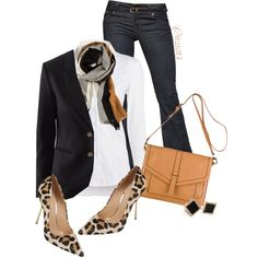 A fashion look from October 2014 featuring NIC+ZOE blouses, Chicnova Fashion blazers and J Brand jeans. Browse and shop related looks.