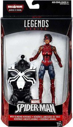 SpiderMan: Spider Girl Ashley Barton Marvel Legends 6-Inch Action Figure Build-a-Figure Space Venom Series