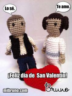 Han y Leia tejidos con amor de http://mibruno.com/