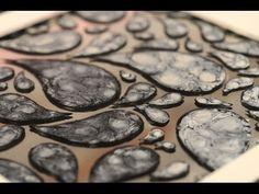 ▶ Esmaltes al agua - Efectos con Pinturas - Pintar espejos - Lidia Gonzalez Varela - YouTube