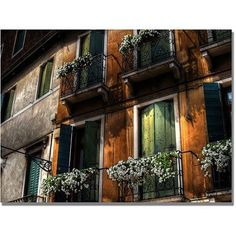Trademark Fine Art Balcony Canvas Wall Art by Lois Bryan, Size: 22 x 32, Multicolor