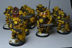 Pre-Heresy Imperial Fists Breacher Squad on http://sonofdorn.blogspot.co.uk/2013/02/mark-iv-sergeant-and-vox-astartes.html