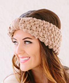 Bglorified Boutique Taupe Wool-Blend Head Wrap