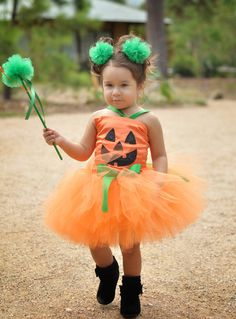 Pumpkin Patch Fairy Halloween Tutu Costume.......Perfect for Halloween. $74.95, via Etsy.