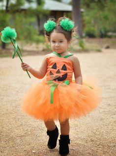 Pumpkin Patch Fairy Halloween Tutu Costume.......Perfect for Halloween. $74.95, via Etsy.