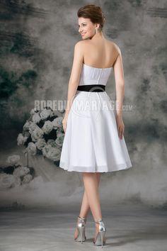 Ceinture robe de mariage civile chiffon robe pas cher [#ROBE2011824]…