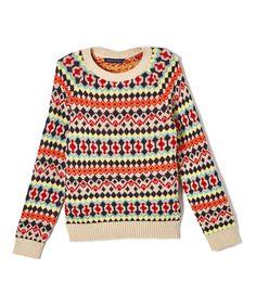 Tan & Orange Stripe Sweater - Infant Toddler & Boys