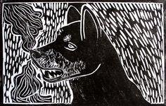 Xilografia - Introduccion al grabado y la obra grafica. Stamp Carving, Dog Art, Funny Comics, Wiccan, Printmaking, Batman, Abstract, Drawings, Illustration