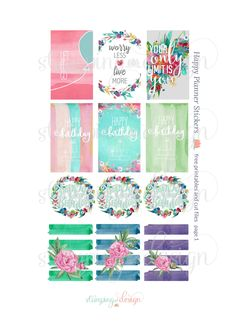 Happy Planner Stickers Freebies