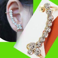 Full Diamond String Ear Cuff (Single, No Piercing) | LilyFair Jewelry, $10.99!