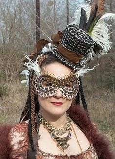 Pull Tab Steampunk Style Hat and Mask