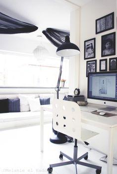 moroccan lounge and working space Melanie el Haddad