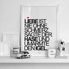 Kunstdruck TypoPrint Liebe online kaufen ➜ Bestellen Sie Kunstdruck TypoPrint Liebe für nur 19,95€ im design3000.de Online Shop - versandkostenfreie Lieferung ab 50€!