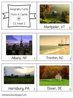 One2one Cycle 3 Geography Cards States And Capitals