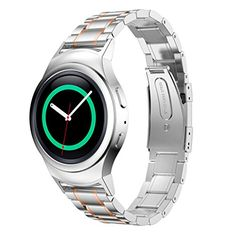 Samsung Galaxy Gear S2 R720 Watch Band Muxika Stainless Steel Watch Band  Connector For Samsung Galaxy Gear S2 RM720 Rose Gold 1 * You can find more details by visiting the image link.