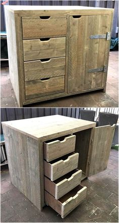 There are some homes with small areas which are empty and need a decorating idea, so this upcycled wood pallet entryway table is perfect for those areas as Wooden Pallet Projects, Wood Pallet Furniture, Diy Furniture Projects, Furniture Plans, Plywood Furniture, Cheap Furniture, Luxury Furniture, Small Wooden Projects, Pallet Dresser