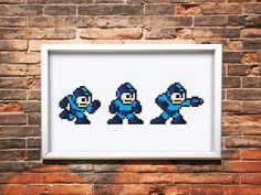 Capcoms Mega Man 8-Bit 4-Color Screenprint.