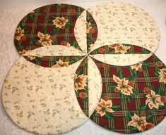 Christmas Table Runner Quilt by Angie Desmarais