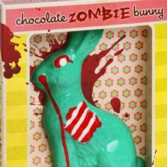 Chocolate zombie bunny