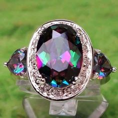Mystic Topaz. Love this! I just ordered a ring with this stone. Not this big, though!! Very pretty!!