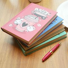 """""""Happy TuTu"""" Hard Cover Diary Cute Paper Design Planner Pocket Journal Memo Gift #Unbranded"""