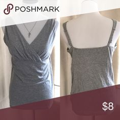 Old Navy maternity tank Gray maternity tank. Thick adjustable straps. Old Navy Tops Camisoles