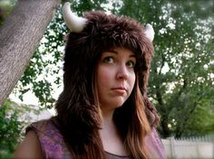 """Buffalo """"Where the Wild Things Are"""" furry animal hat"""