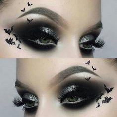 Eye Makeup - Were batty for this look by using Bulletproof eyeshadow ? Emo Makeup, Makeup Inspo, Makeup Art, Makeup Inspiration, Makeup Ideas, Makeup Tutorials, Nail Ideas, Sugarpill Cosmetics, Winged Eyeliner Tutorial