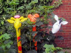 I can see you two trying to hide  #Animal #balloons #children #parties # tiger # giraffe # zebra  www.lankylongloons.co.uk Animal Balloons, Balloon Animals, Christmas Stocking Fillers, Christmas Gifts, Giraffe, Parties, Seasons, Children, Plants