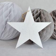 Venta de Decorado colgante estrella madera blanca