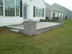Paver Patio with wall.