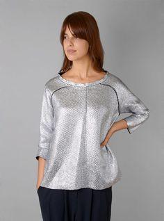 Couverture and The Garbstore - Womens - Rachel Comey - Wenden Metallic Wool Top