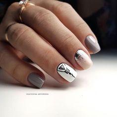 Cute Nails, Pretty Nails, Hair And Nails, My Nails, Manicure, Natural Nail Designs, Striped Nails, Instagram Nails, Oval Nails